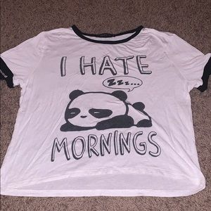 This is a shirt with a panda from Papaya